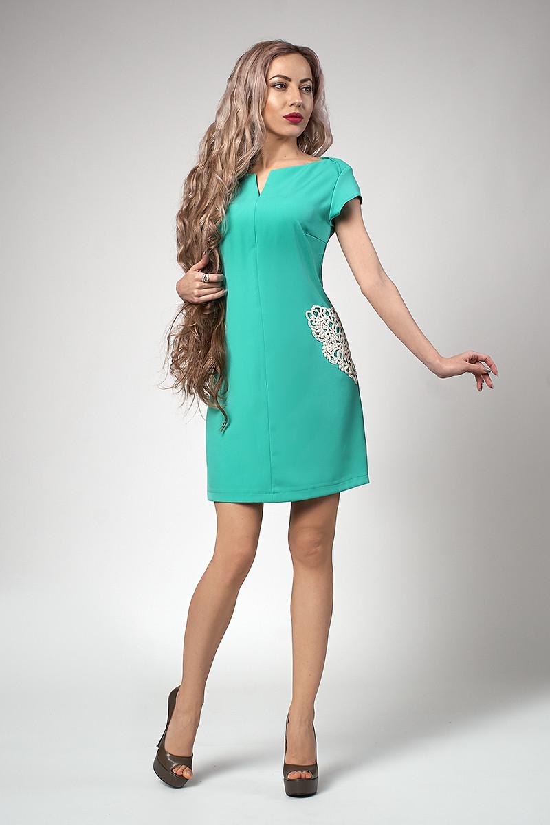 Платье мод №553-2, размеры 48 бирюза
