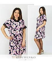 Платье цветы 0103723 (р. 48-54)
