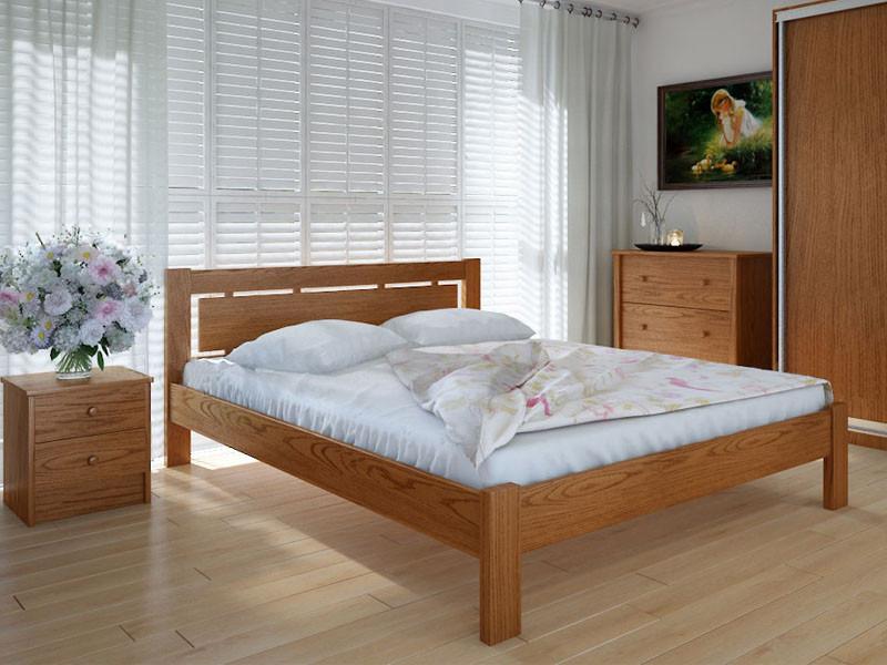 Кровать MeblikOff Осака (140*200) дуб