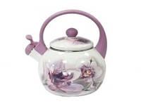 Чайник эмалированный 2,2 л Орхидея 5/L