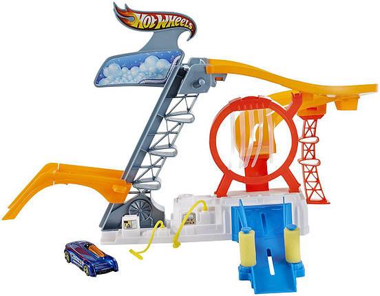 Трек Хот Вилс Лифт с автомойкой Гонка скорости Hot Wheels Rinse & Race Play Set, фото 2