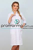 """Халат медицинский женский белый """"Элегант"""""""
