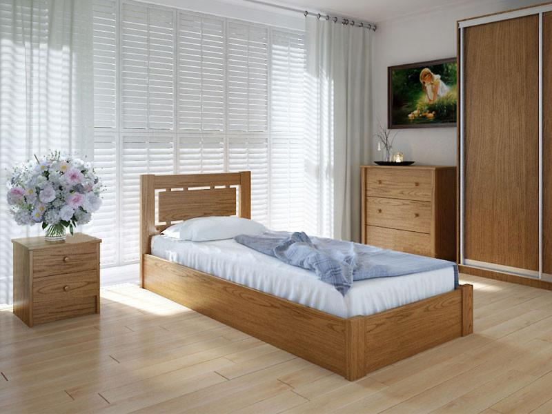 Кровать MeblikOff Осака с механизмом (90*200) ясень