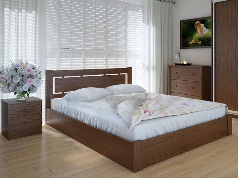 Кровать MeblikOff Осака с механизмом (140*200) дуб