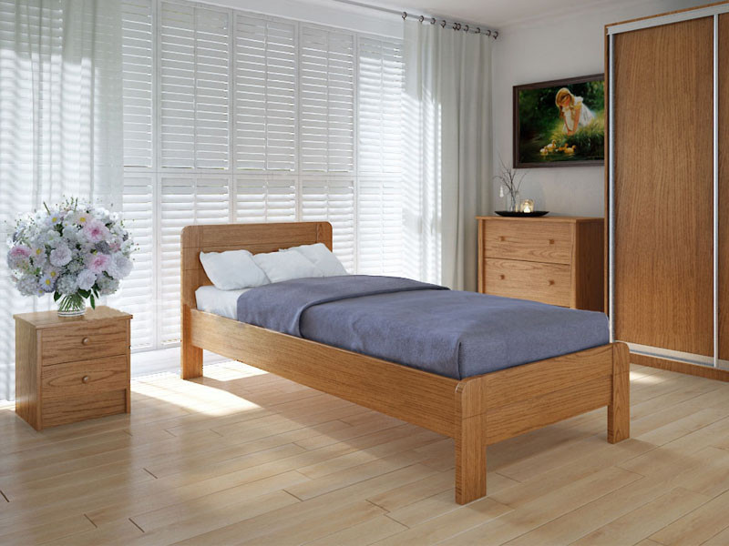 Кровать MeblikOff Марокко (90*200) ясень