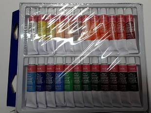 Акварельные, акриловые, витражные и масляные краски