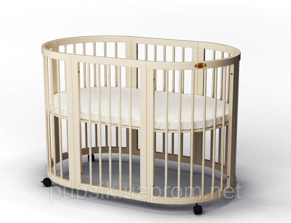 Детская кроватка IngVart Baggybed Round круглая (овальная)