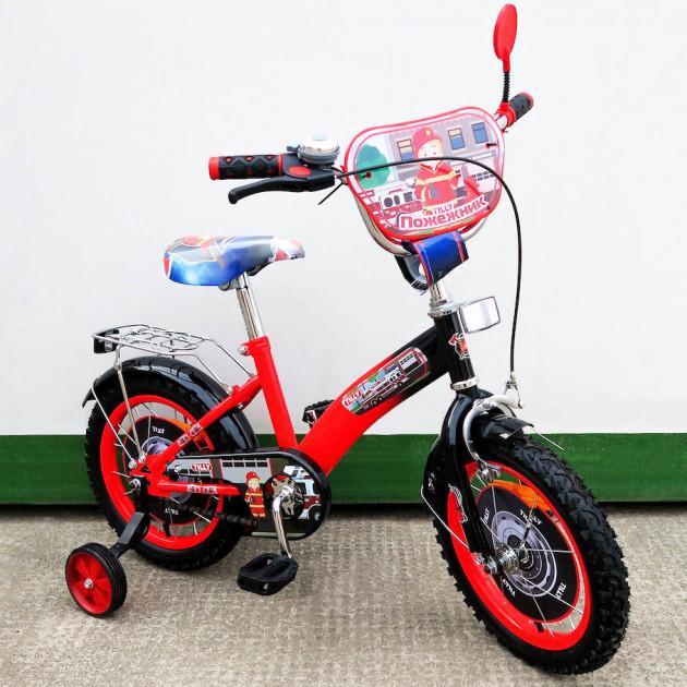Детский двухколесный велосипед Tilly Пожарник 14 дюймов, T-21429