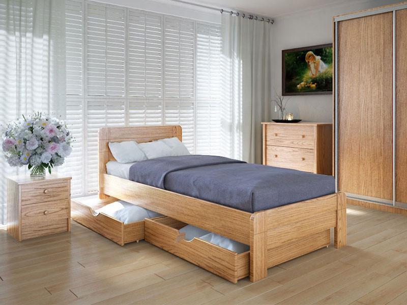 Кровать MeblikOff Марокко с ящиками (90*190) дуб