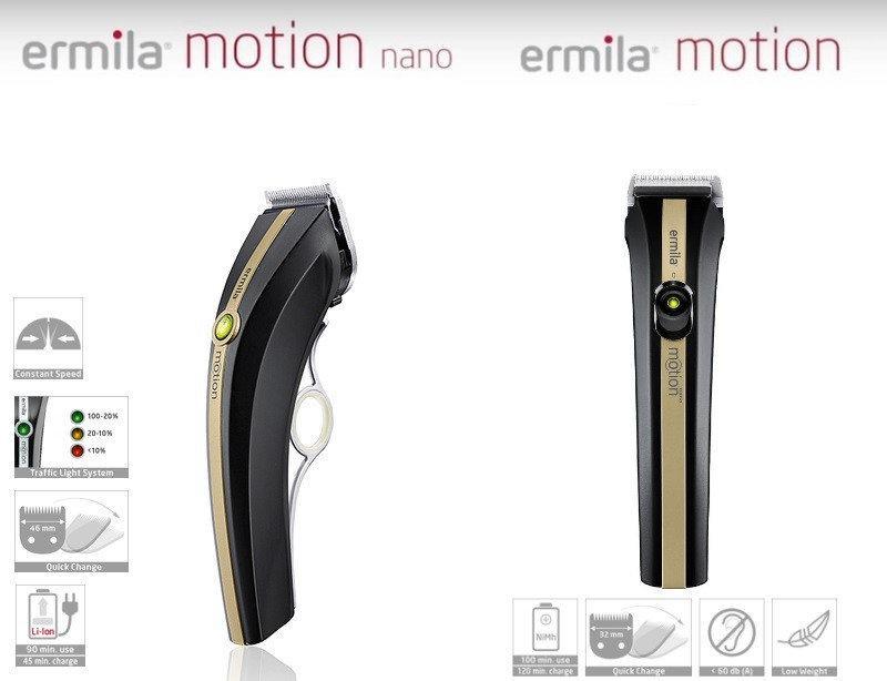 Набор машинок для стрижки Ermila Motion 1885-0142 черное золото