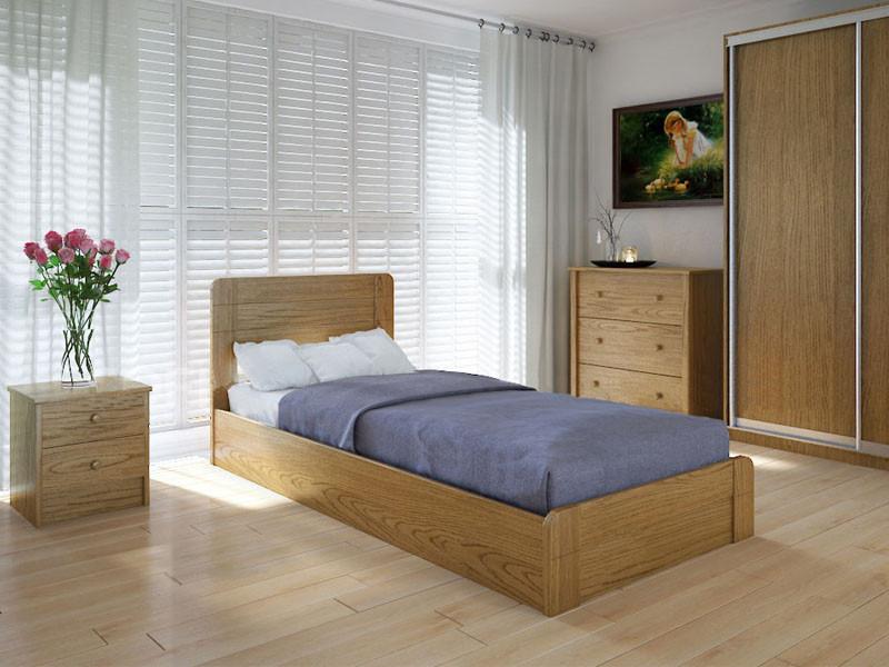 Кровать MeblikOff Марокко с механизмом (90*200) ясень
