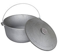 Чугунный казан туристический 20 л. Биол (походный костровой казан, котелок, туристическая посуда)