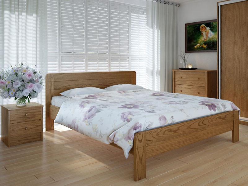Кровать MeblikOff Эко плюс (140*200) дуб