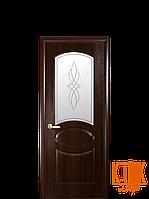 Межкомнатные двери Новый Стиль Овал (каштан)