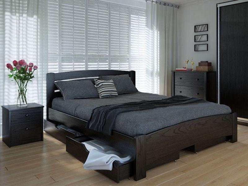 Кровать MeblikOff Грин с ящиками (120*190) ольха
