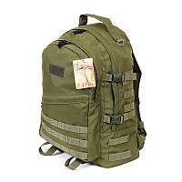 Тактический армейский крепкий рюкзак 30 литров Олива. Армия, рыбалка, туризм, охота, спорт