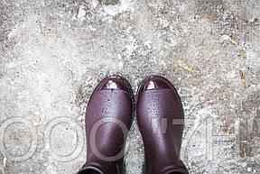 Ботики женcкие силикон с лакированным носком, фото 3
