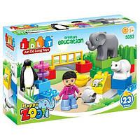 """Конструктор JDLT 5083 (Аналог Lego Duplo) """"Веселый зоопарк"""" 23 детали"""