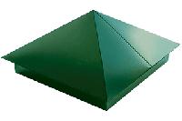 Крышки | Шляпки | Накрывки на столбы забора | Цена металлического оцинкованного колпака на забор производителя