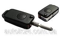 Заготовка корпус выкидного ключа 1 кнопка Mercedes W168 W202 W208 W210 W124 A122 Лезвие HU 39