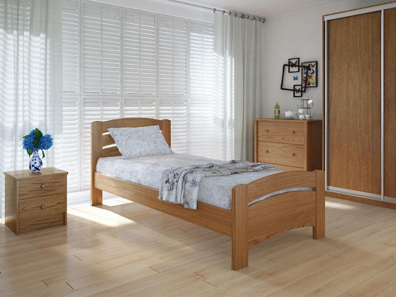 Кровать MeblikOff Грин плюс (90*190) ясень