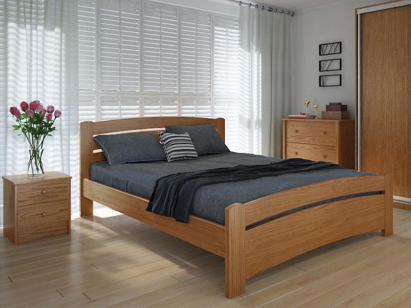 Кровать MeblikOff Грин плюс (160*200) ясень