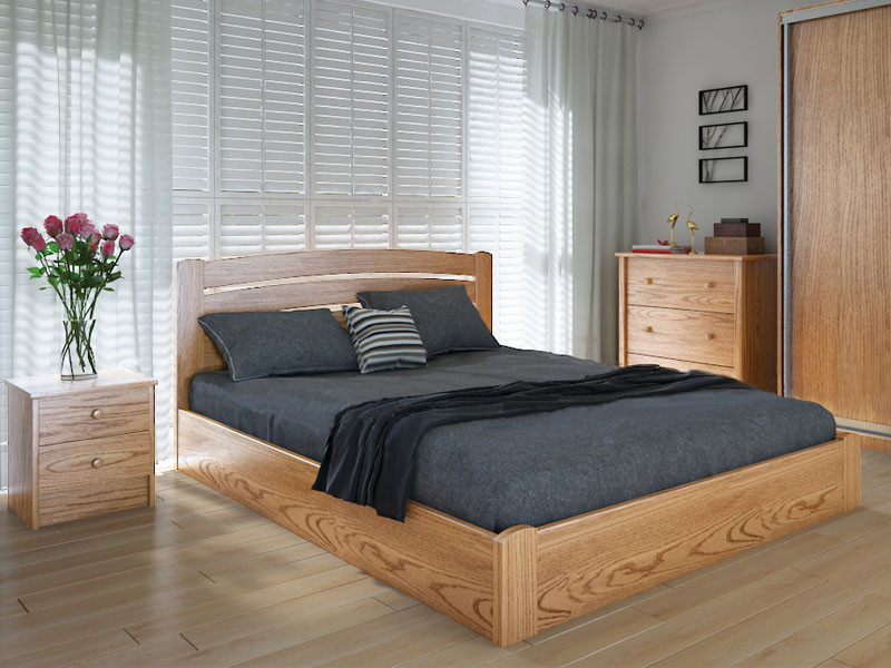 Кровать MeblikOff Грин плюс с механизмом (180*190) ясень