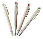 Ручка пластиковая для лазерного трансфера белая с зеленой каплей, фото 2