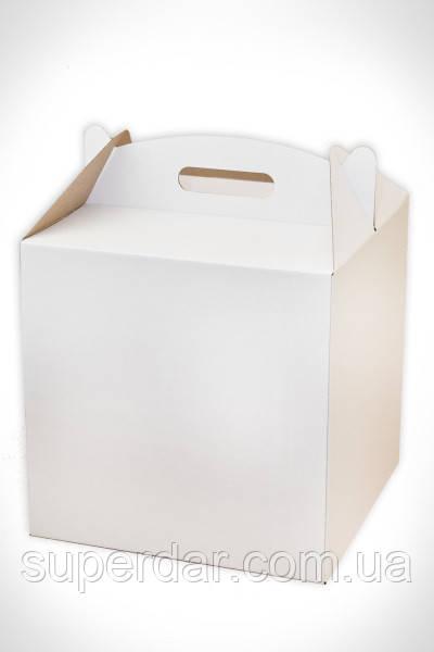 Коробка для торта, 300*300*300 мм., белая