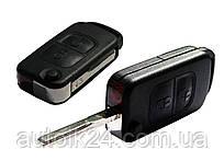 Корпус выкидного ключа 2 кнопки Mercedes Benz W168 W202 W208 Лезо HU 64