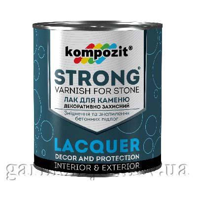 Лак для камня STRONG Kompozit 0.9 л, фото 2