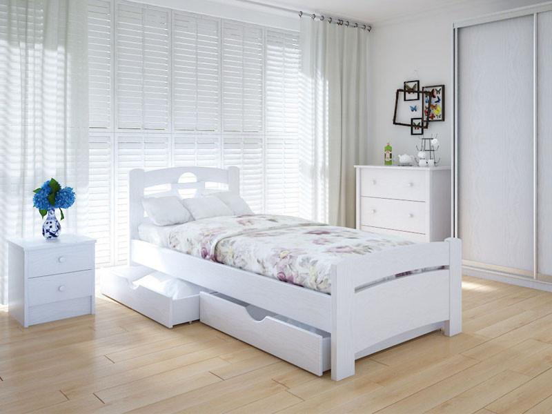 Кровать MeblikOff Кантри плюс с ящиками (90*190) дуб