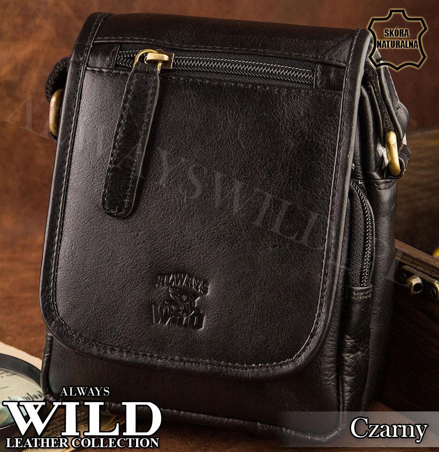 Сумка через плечо бренд Always Wild Кожа Буйвола Польша черная