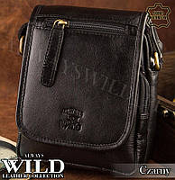 Сумка через плечо бренд Always Wild Кожа Буйвола Польша черная, фото 1