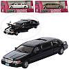 """Машинка Лимузин Kinsmart """"Lincoln Town Car Stretch Limousine 1999"""" 7001 W. метал, инерц-я, 17см, открыв. двери"""