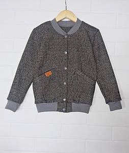 Куртка бомбер детская на кнопках из драпа