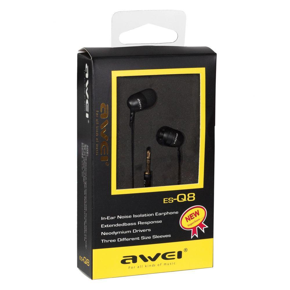 Наушники Awei ES-Q8 Черные