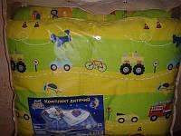 Комплект детский стеганый (бязь/силикон) одеяло+подушка ТМ ''Ярослав'' салатовое (подушка 40*60)
