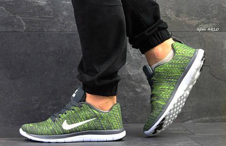 Мужские кроссовки Nike Free Run 4.0,сетка,зеленые 43р, фото 2