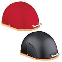 Хлебница A-PLUS 1816  (черная, красная) 36.5*26.5*19 см