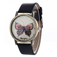Наручные часы Бабочка черные винтаж