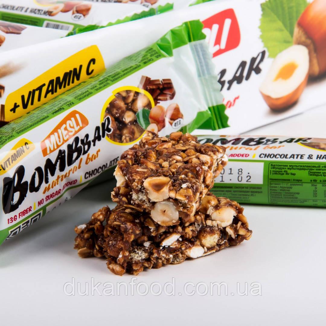 BomBBar Батончик-мюсли Шоколад-фундук