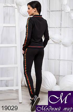 Женский черный спортивный костюм (р. S, M, L) арт. 19029, фото 2