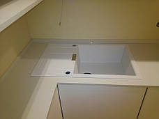Стільниця з кварцового каменю АТЕМ White 0017, фото 2