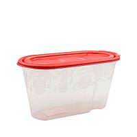 Ёмкость для сыпучих продуктов полипропиленовая 0,8 литра, 19х9х10см арт.768