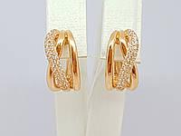Золотые серьги с фианитами. Артикул СВ743И, фото 1