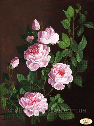 """Схема для вышивки бисером на атласе """"Розовая ветвь"""", фото 2"""