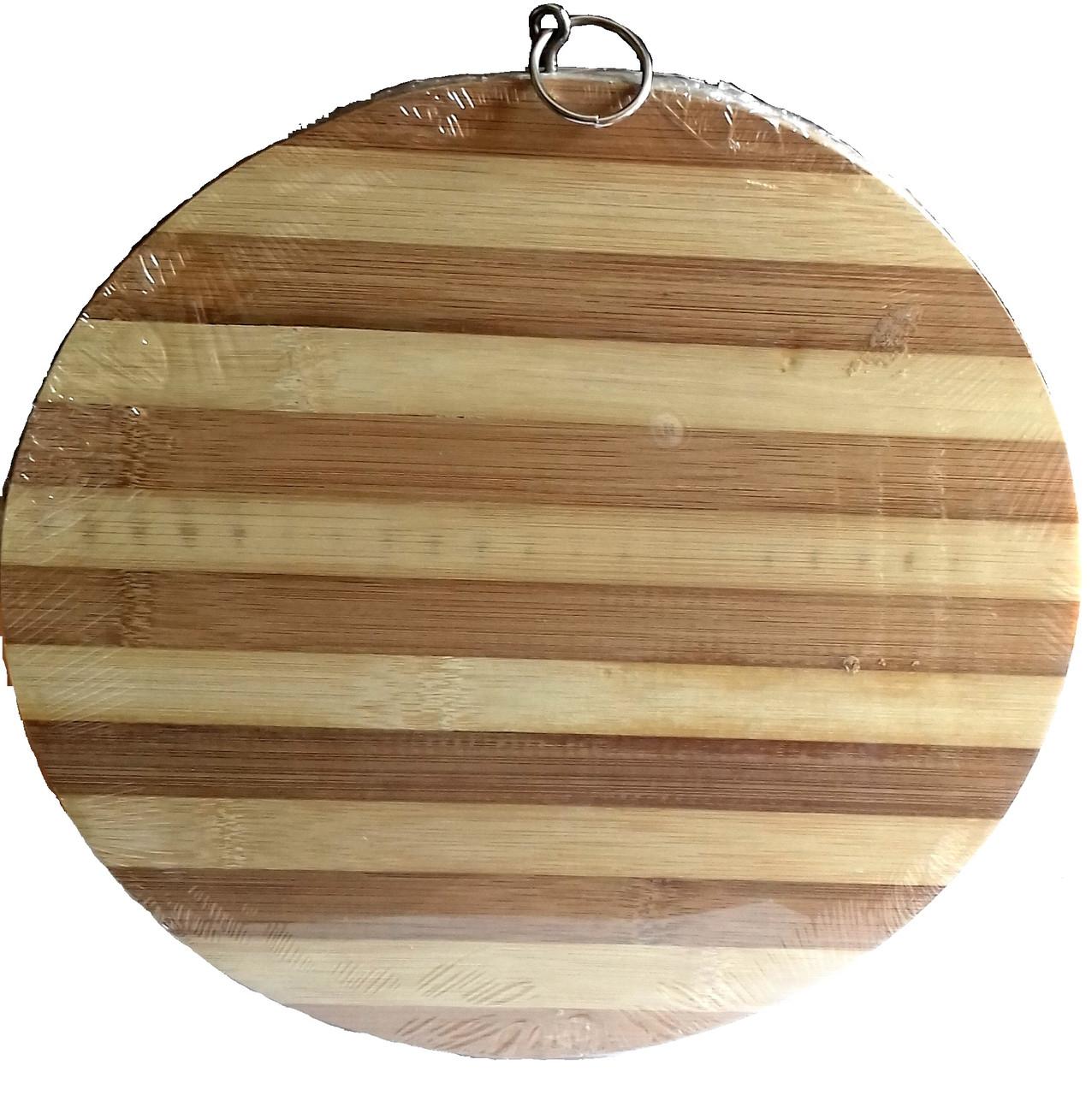 Доска разделочная бамбук А-Плюс 2828 круглая большая 6005-7