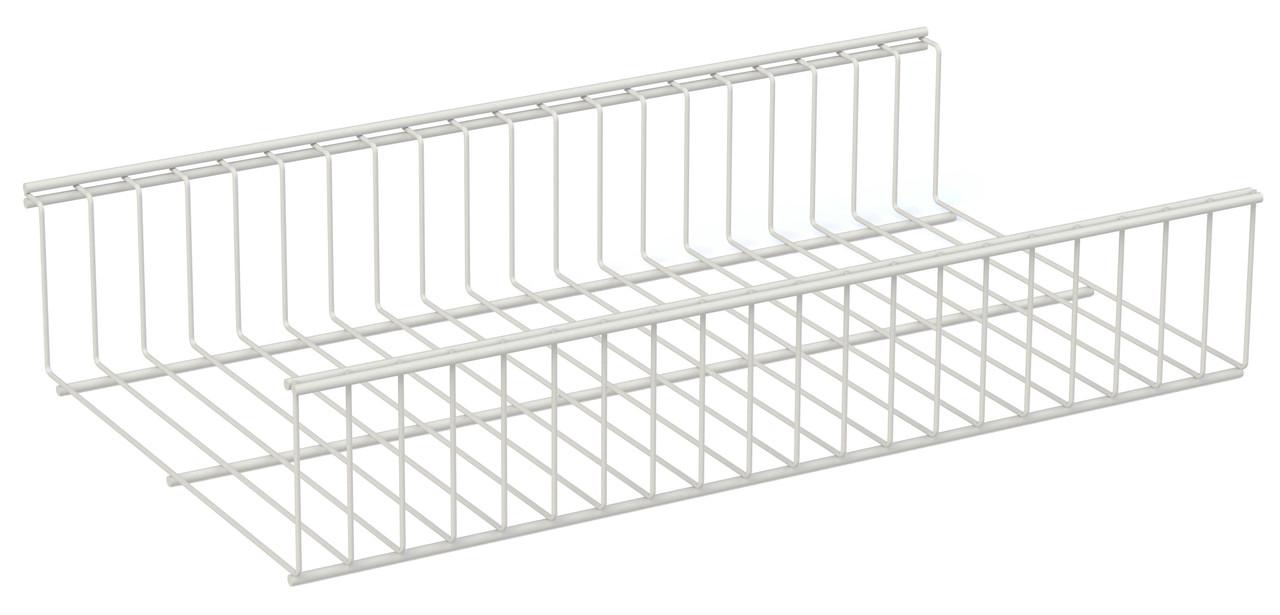 Ящик проволочный Кольчуга (консольная система хранения) 906*306*100 мм Белый