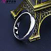 Кольцо обручальное 10762 размер 22, ширина 4 мм, позолота Белое Золото, фото 6